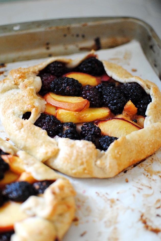 Nectarine Blackberry Galette Minis | Let's Eat Cake