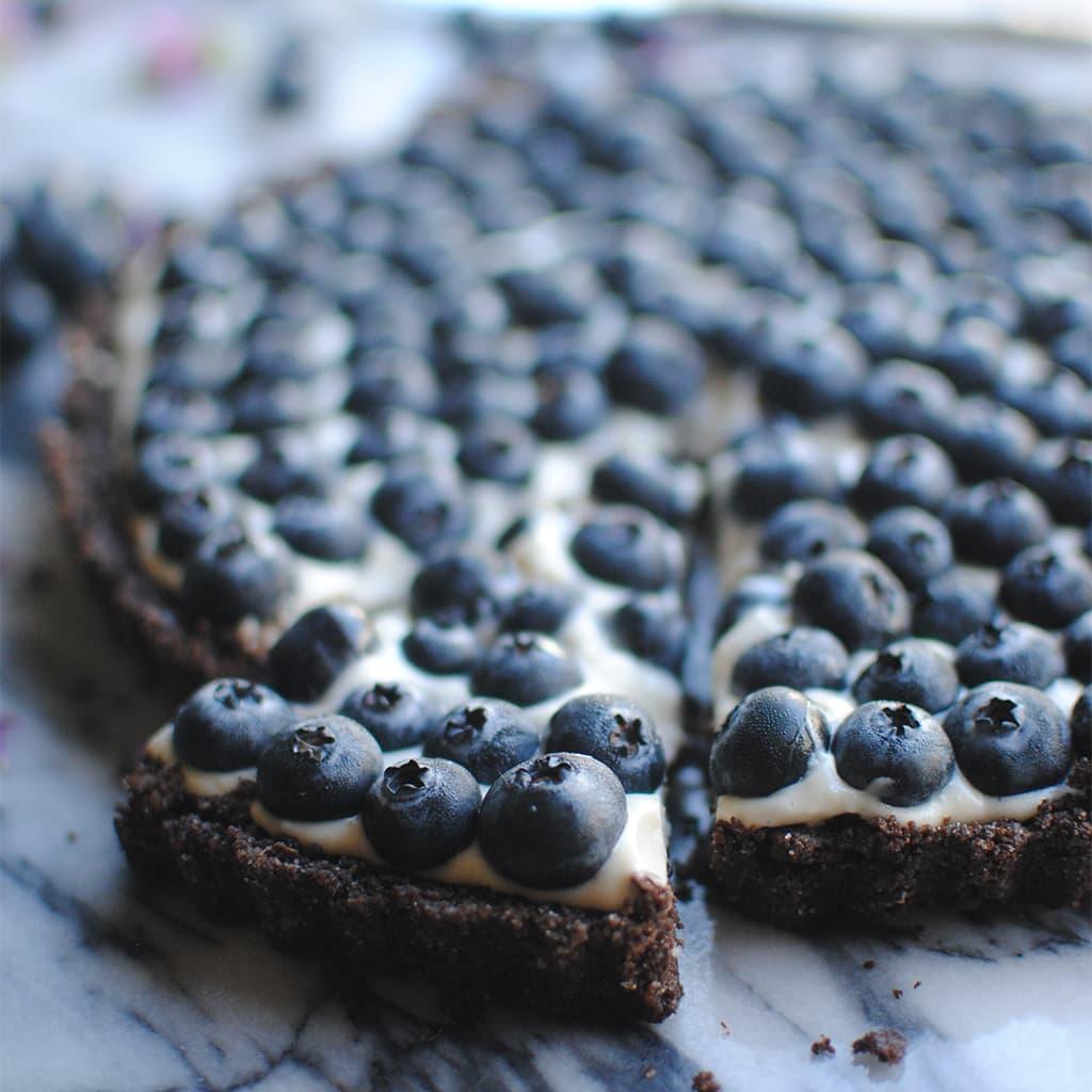 Chocolate Blueberry Tart | Let's Eat Cake