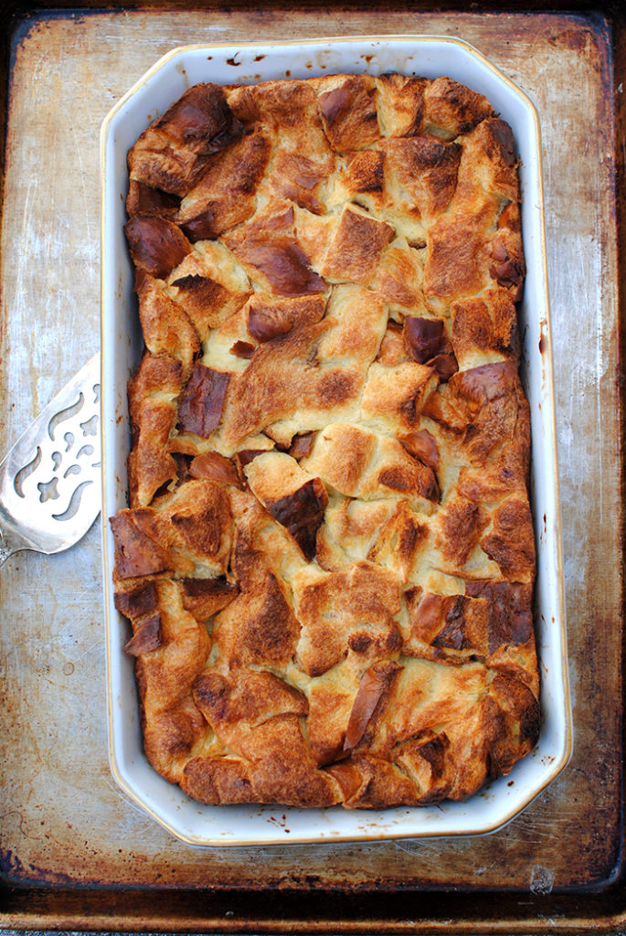 Bread Pudding with Bourbon Caramel Sauce | Let's Eat Cake