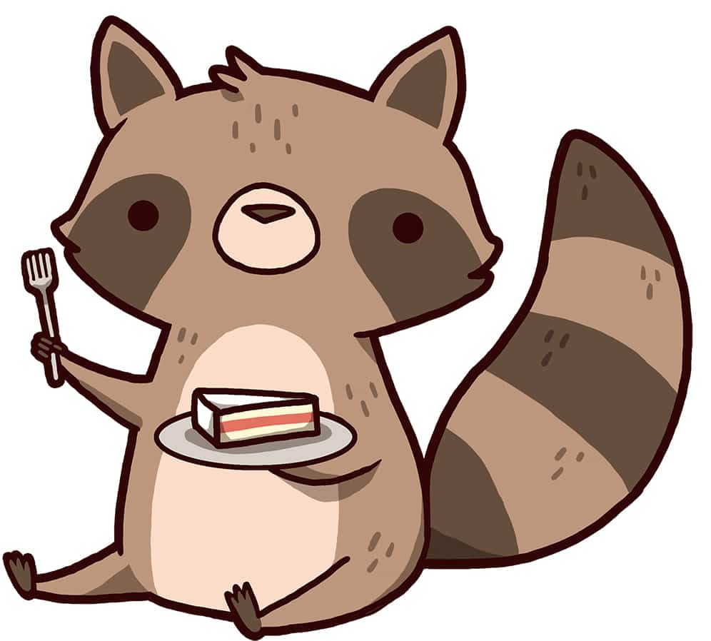 Let's Eat Cake Racoon