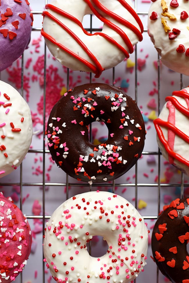 Red Velvet Donuts - Valentine Donuts
