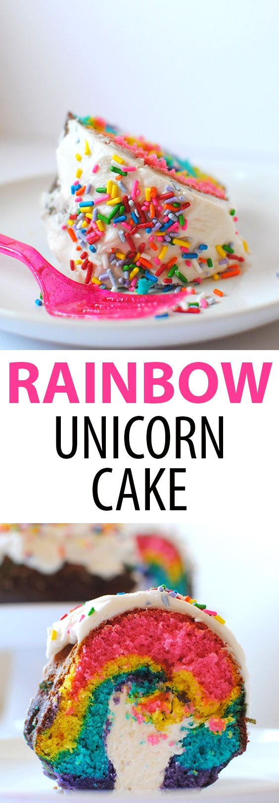 Rainbow Unicorn Cake with Twinkie Filling by Let's Eat Cake