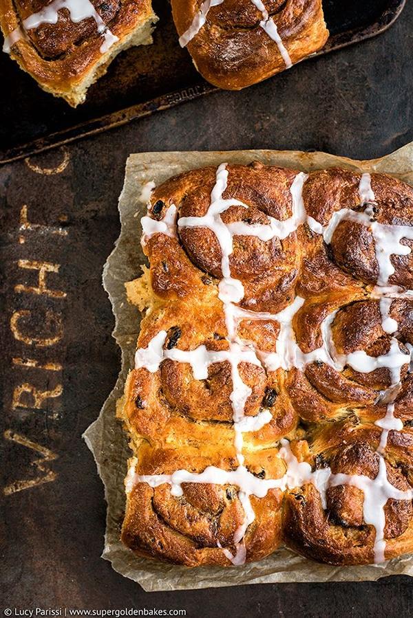 Hot Cross Buns for Easter by Supergolden Bakes
