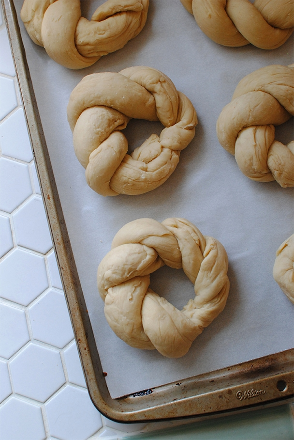 Wreaths of Italian Easter Bread ready to be baked