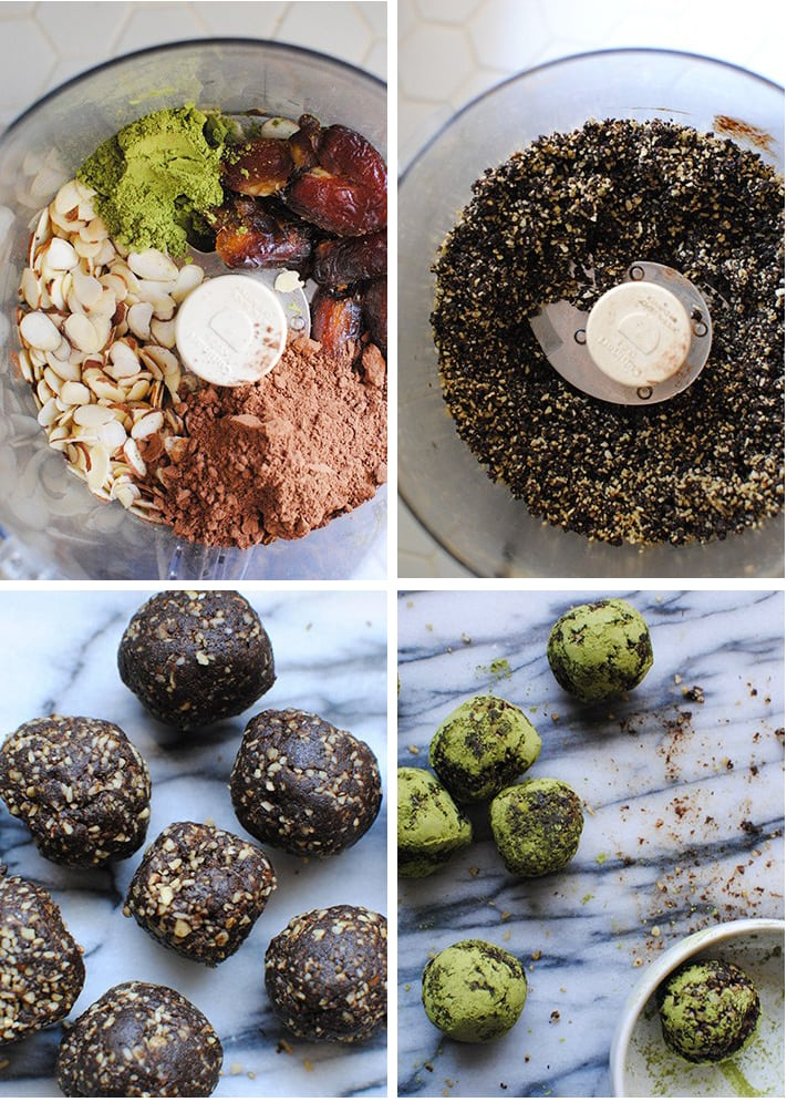 Matcha Energy Balls Step by Step Process