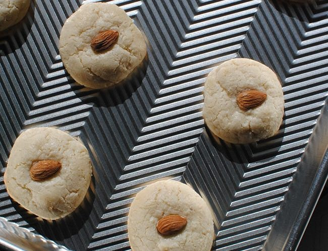 Chocolate-Dipped Almond Cookies