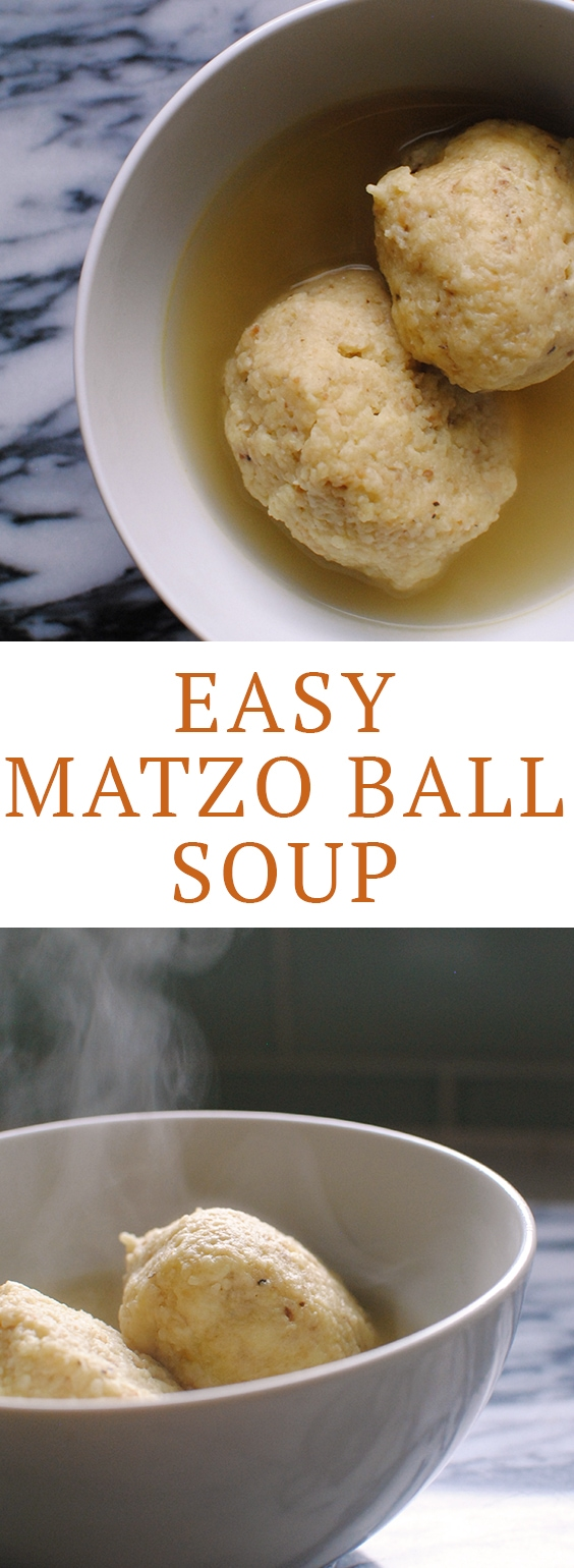 This easy matzo ball soup recipe is a great for Passover! #matzoball #passover #matzorecipe #matzoballrecipe #matzoballsoup #matzoballsouprecipe #passoverrecipes