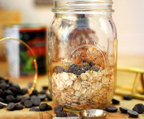 Peanut Butter Chocolate Overnight Oats!