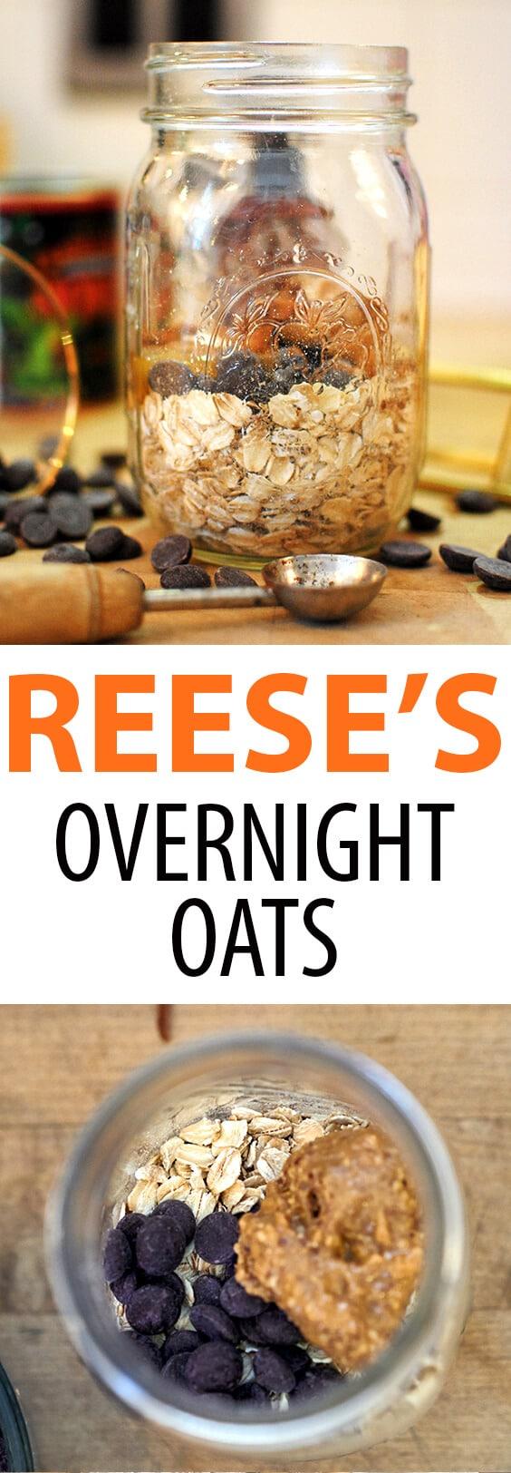 Reese's Peanut Butter Overnight Oats