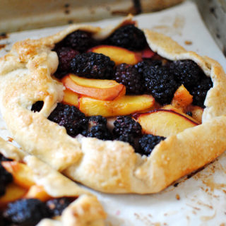 Nectarine Blackberry Galette | LetsEatCake.com