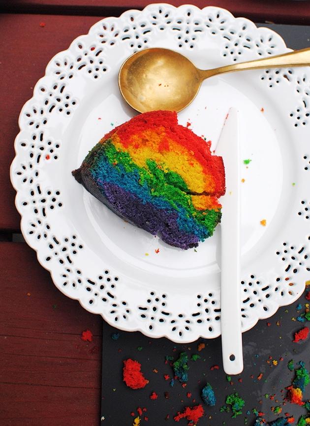 Rainbow Bundt Cake | LetsEatCake.com