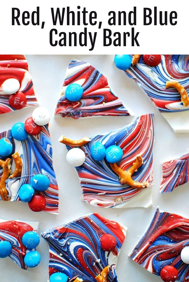 Red White and Blue Candy Bark