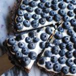 Chocolate Blueberry Tart | LetsEatCake.com