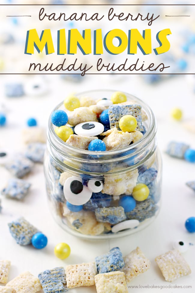25 Muddy Buddies recipes - minions banana