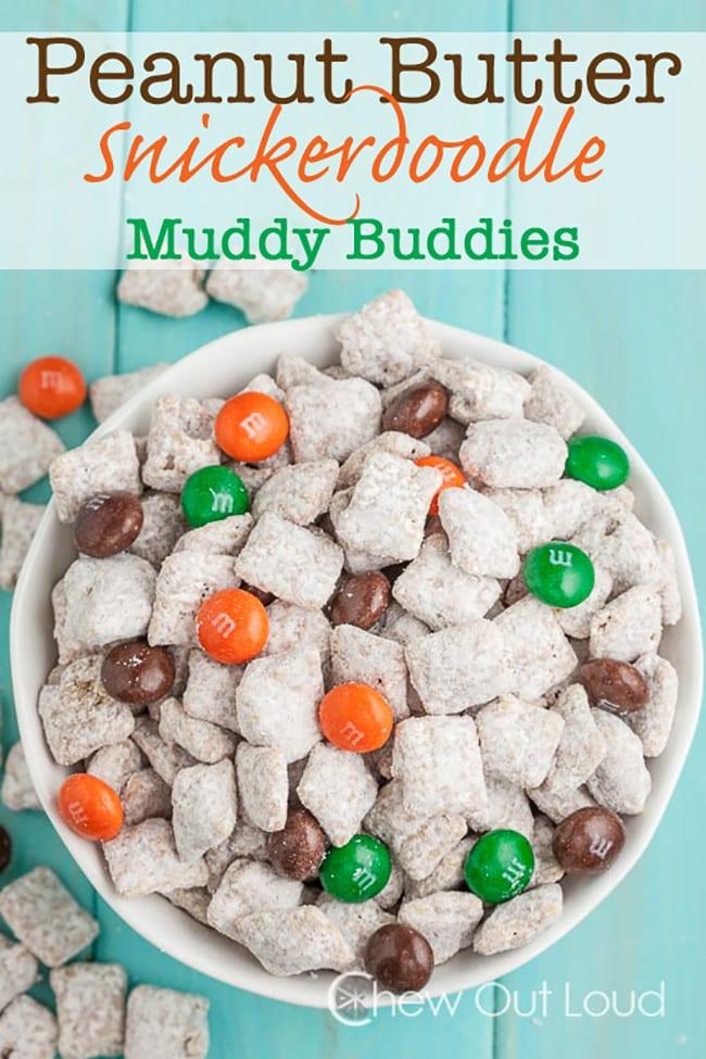 25 Muddy Buddies Recipes - Peanut Butter Snickerdoodle