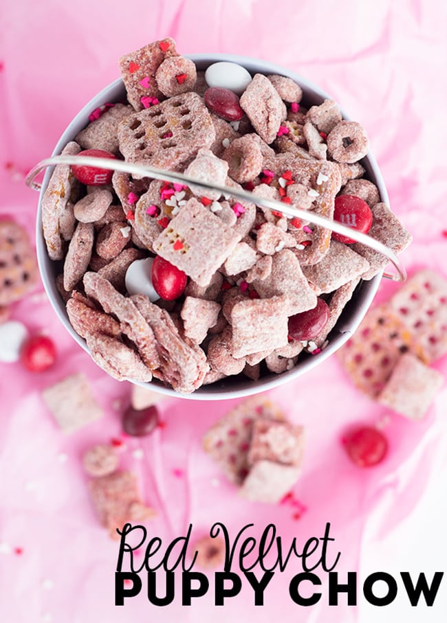 25 Muddy Buddies Recipes - red velvet