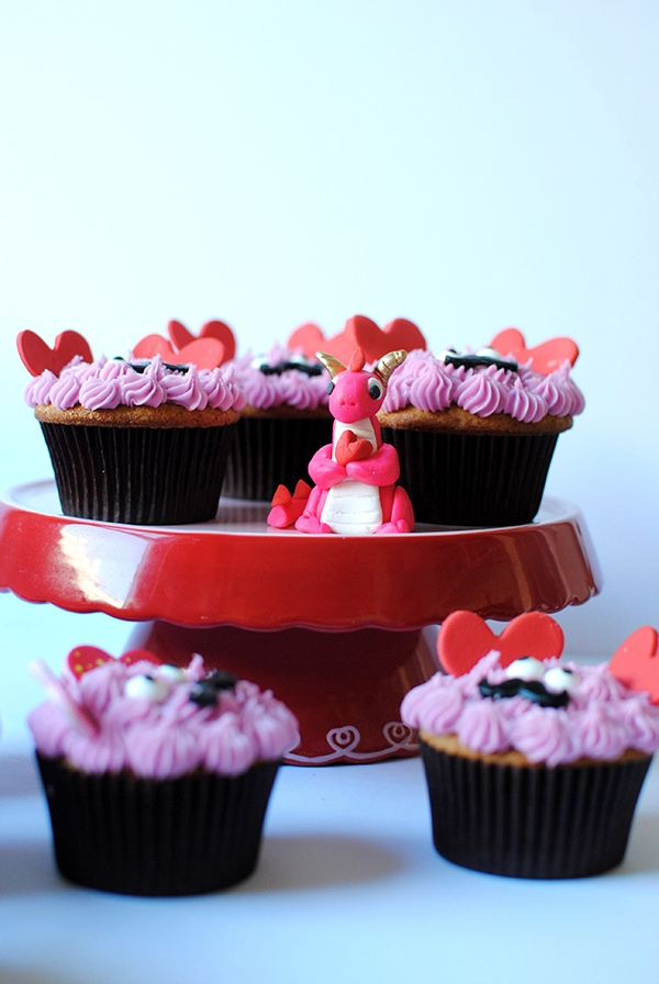 Love Monster Cupcakes And Valentine Dragon