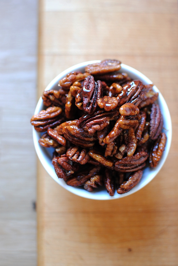 Maple Bourbon Pecans - Candied Pecans