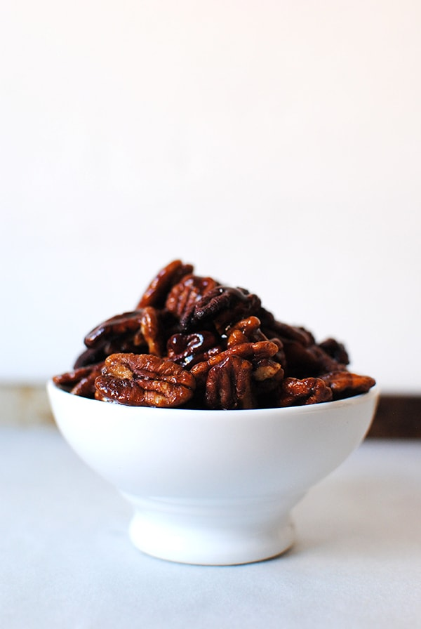 How to Make Candied Pecans - Maple Bourbon Pecans