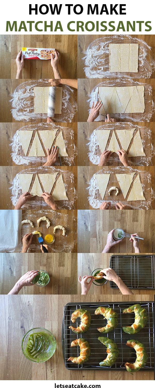 How to make matcha croissants