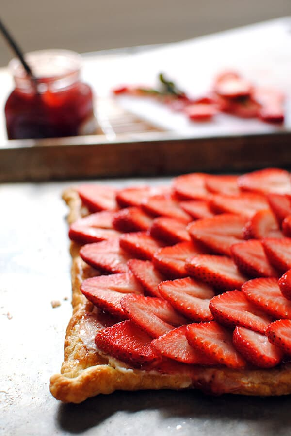 Strawberry Puff Pastry Tart