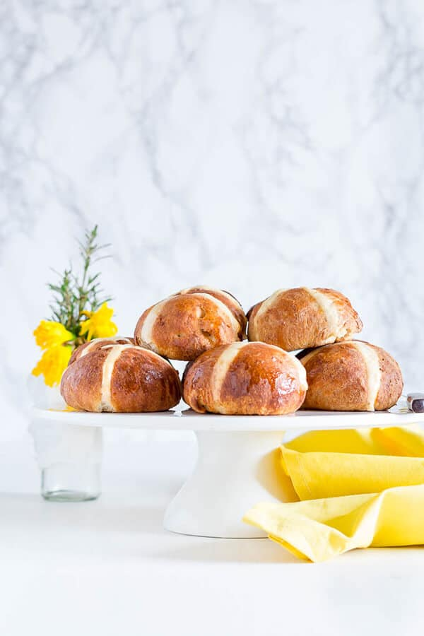 Hot Cross Buns with Mango and Allspice for Easter