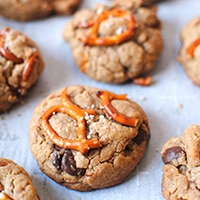Peanut Butter Pretzel Cookies Recipe