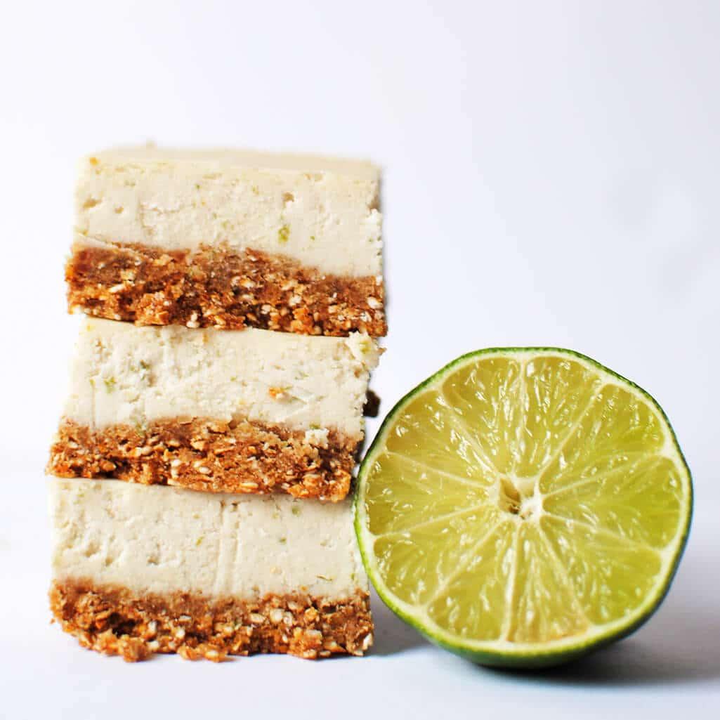 No Bake Key Lime Bars with Pretzel Crust