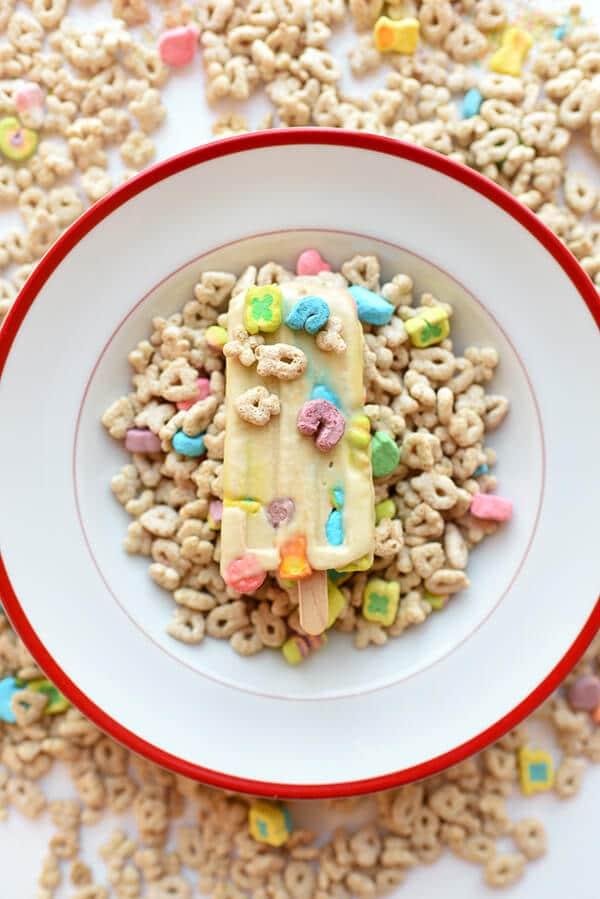 Cereal Milk Ice Cream Popsicle Recipe