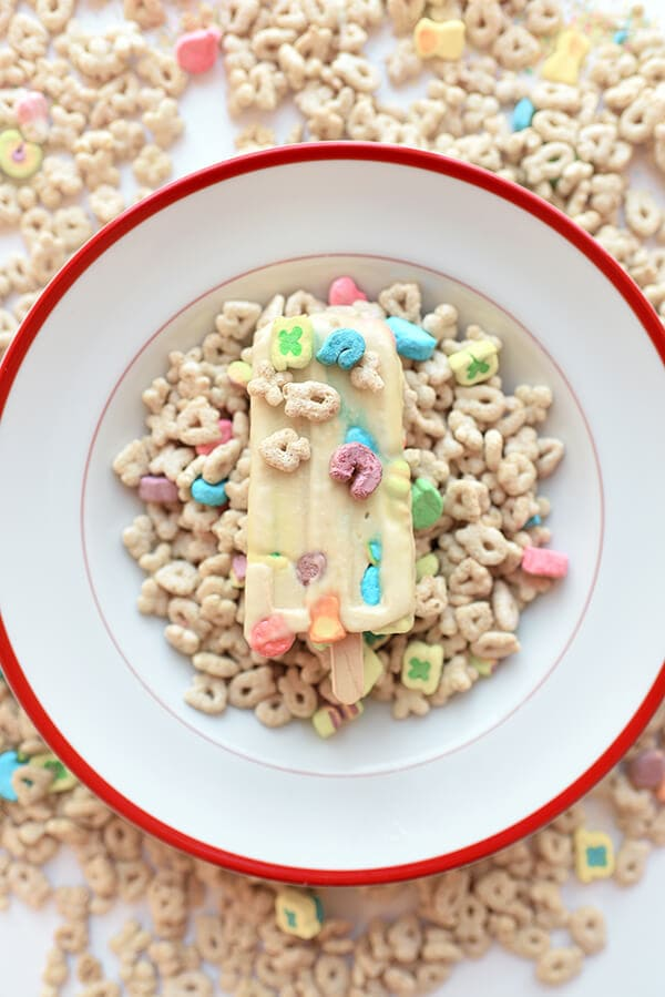 Lucky Charms Ice Cream Popsicles