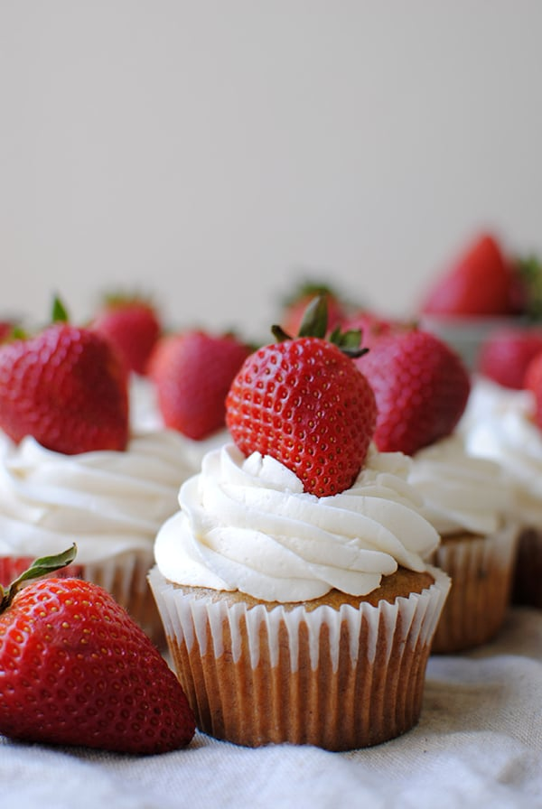 Strawberry Cupcakes Made from Scratch