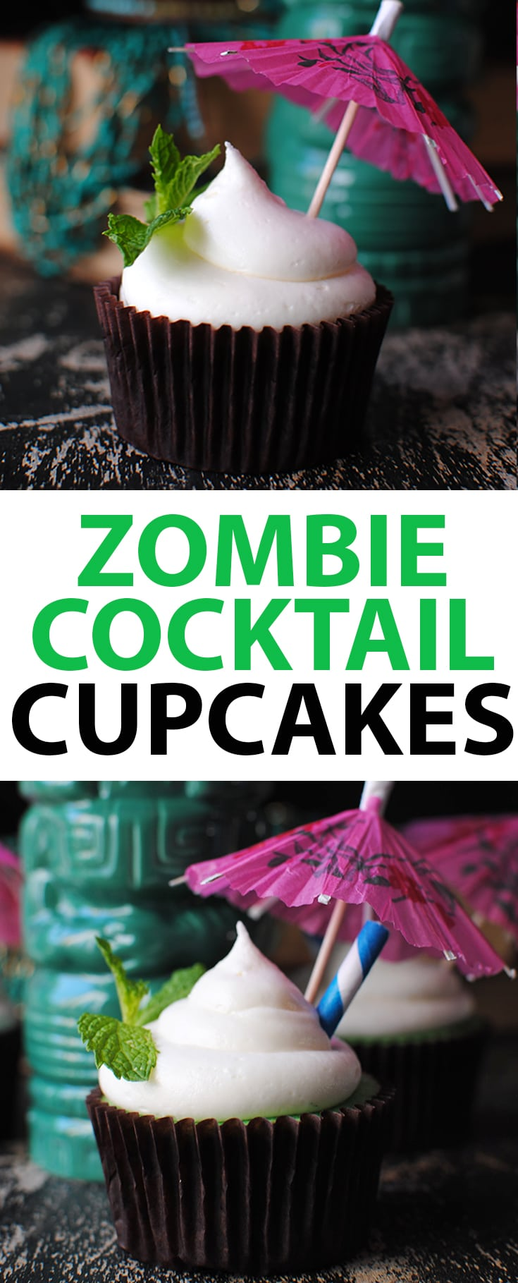 How to Make a Zombie Cocktail Cupcake