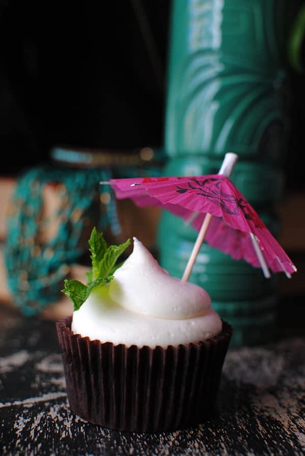 Zombie Cupcake with Tiki Mug