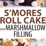Smores Cake with Chocolate Ganache, Marshmallow, and Graham Crackers