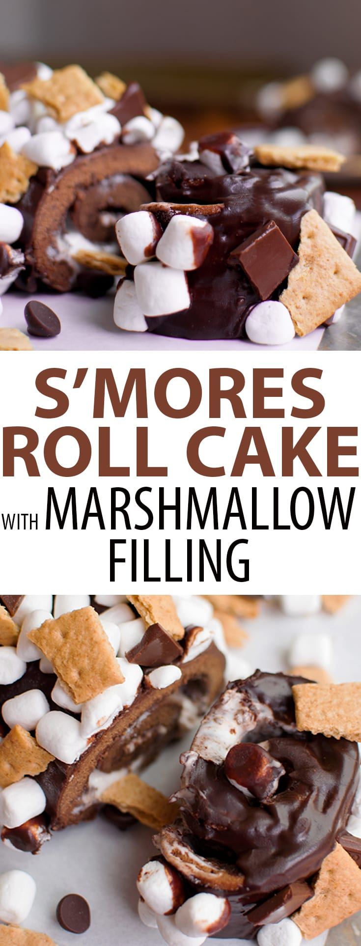 S'mores Cake with Chocolate Ganache, Marshmallow, and Graham Crackers