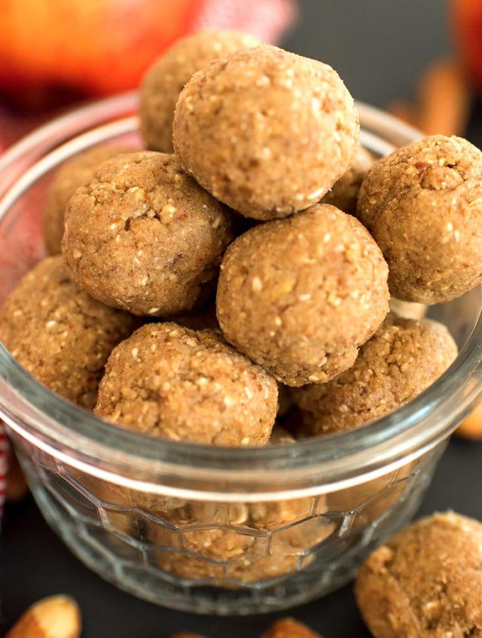Apple Cinnamon Energy Balls - Easy, Healthy Snack Recipes