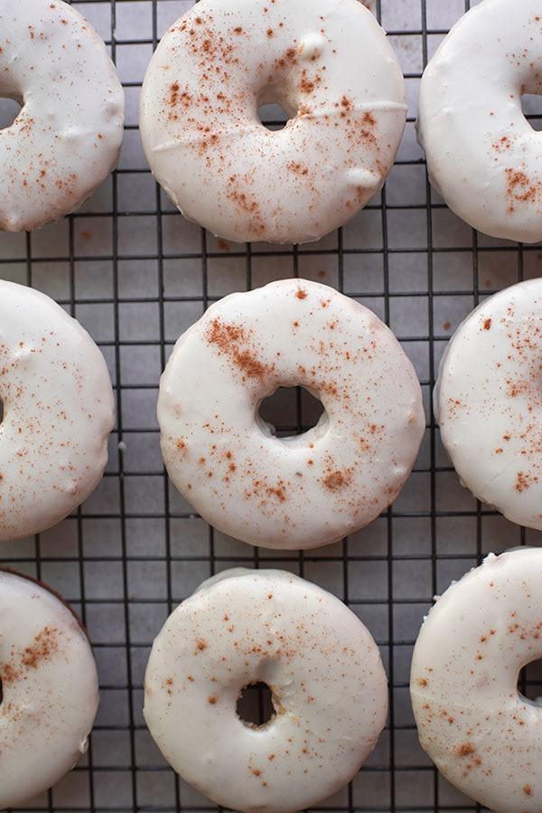 Baked Donuts - Chai Donuts with Vanilla Cinnamon Glaze