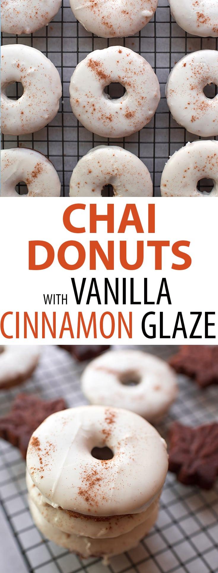 Chai Baked Donuts with Vanilla Cinnamon Glaze