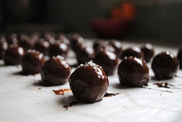 Dark Chocolate Truffles with Caramel and Sea Salt | Let's ...
