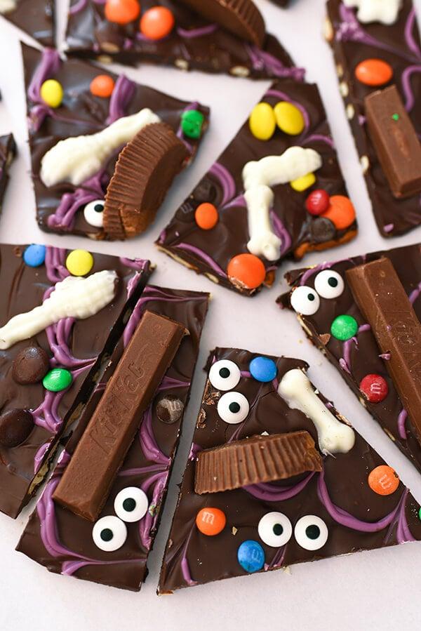Easy Halloween Recipe - Candy Bark