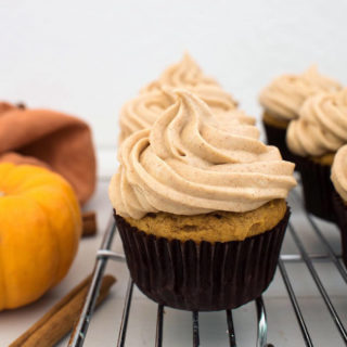 Pumpkin Spice Cupcakes with Brown Sugar Cinnamon Cream Cheese Frosting