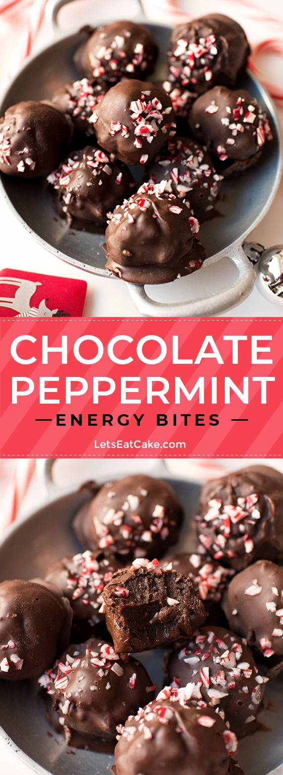 Chocolate Peppermint Energy Bites