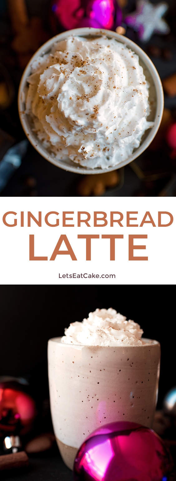 This Gingerbread Latte recipe is an easy drink recipe for the holiday season! The flavored latte is simple to make at home and perfect for enjoying on Christmas morning! #letseatcake #quickrecipe #gingerbreadlatte #gingerbreadrecipe #flavoredlatte #latterecipe #coffee #christmas #christmasmorning #tistheseason #food #starbucks #gingerbreadsyrup #espresso #syrup #foodrecipes #foodideas #fooddrink #yummyrecipes #deliciousfood #fooddrink #foodrecipes #starbuckscopycat #dessertrecipes #easyrecipes #allrecipes #food_drink