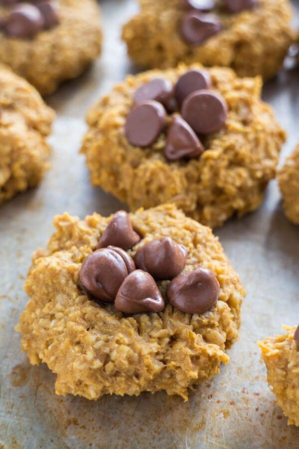 Healthy Desserts: Pumpkin Oatmeal Cookies