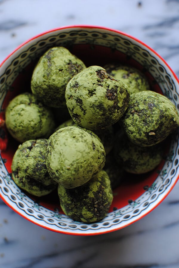 Healthy Snack Ideas: Chocolate Matcha Energy Balls