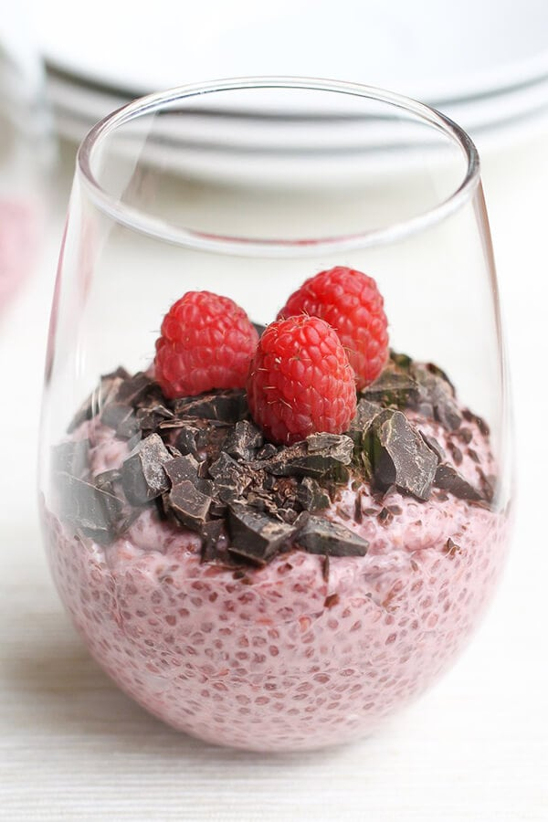 Raspberry Chocolate Chia Pudding