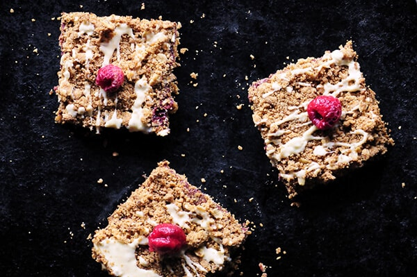 Raspberry Gingerbread Bars