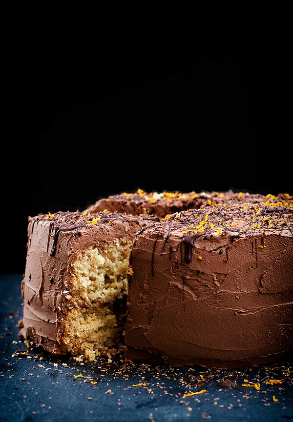 Chocolate Orange Coconut Cake