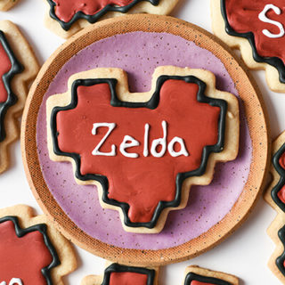 8-Bit Heart Valentine Cookies