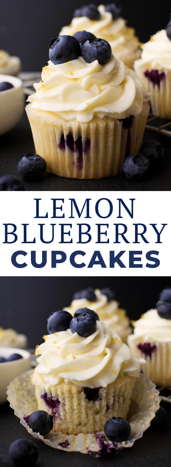 Love lemon desserts? These easy lemon blueberry cupcakes topped with a lemon cream cheese frosting are a delicious spring recipe and great for anyone who's a fan of lemon cake, lemon recipes, cupcake recipes, or easy desserts. #letseatcake #cupcakes #lemon #lemondesserts #lemoncake #lemoncupcakes #lemonrecipes #lemonblueberry #lemonblueberrycake #lemonblueberrycupcakes #cupcakerecipe #creamcheese #creamcheesefrosting #cupcakerecipe #easycupcakes #cupcakeideas #bakingrecipes #sponsored
